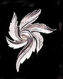 "TRIFARI 2 1/2"" Silvertone Leaves Vintage Brooch"