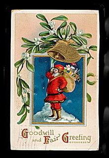 IA 1910 Santa Claus Ellen Clapsaddle Postcard