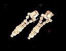 Lovely Pale Yellow Rhinestone Dangle Earrings