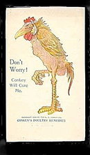 1908 Conkey's Poultry Remedies Advertising Postcard