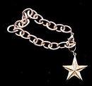 Ri! Silverplate Star Dangle Charm Bracelet