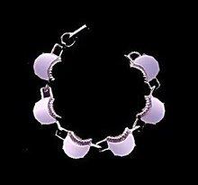 Vintage Half Moon Moonglow Blue Thermoset Bracelet