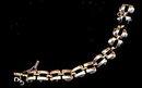 Vintage Monet Goldtone Linked Circle Bracelet