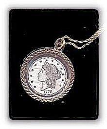 Great Replica Twenty Dollar Coin Pendant Necklace