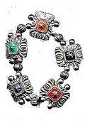 Great Heavy Metal Painted Symbol Bracelet