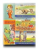 5 1920s - 1940s Comic Linen Postcards of Dogs