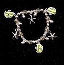 Vintage Fish & Starfish Charm Bracelet