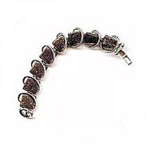 Vintage Square Black Thermoset Bracelet