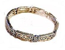 Lovely Silvertone Art Heart Design Bracelet