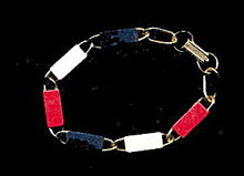 Lovely Vintage Red, White & Blue Bracelet