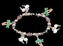 Vintage Flamingo/Palm Tree Florida Charm Bracelet