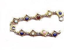 Lovely Teardrop with Glass Inset Vintage Bracelet