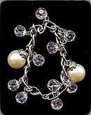 Lovely Crystal Bead & Faux Pearl Bracelet