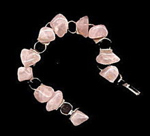 Lovely Vintage Polished Pink Stone Bracelet