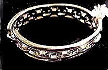 Lovely Vintage Monet Silvertone Bangle Bracelet