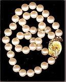 Lovely Vintage Japan Faux Pearl 2 Strand Bracelet