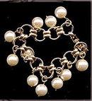 Lovely Faux Pearl Ball Dangle Bracelet