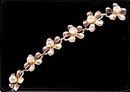 Gorgeous Vintage Flower Bracelet with Glass