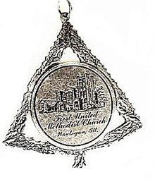 1985 Waukegan IL 1st Methodist Church Xmas Ornament