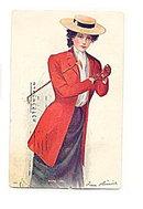 Archie Gunn 'Riding Girl' Artist 1906 Postcard