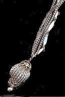 Lovely Vintage Silvertone Ball Dangle Necklace