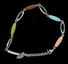 Lovely Liz Claiborne Pastel Link Necklace