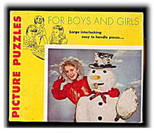 1940s Girl with Snowman Picture Puzzle