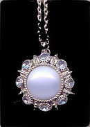 Lovely Moonglow Blue Avon Stone Pendant Necklace