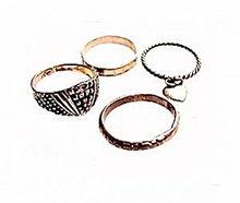 4 Vintage Sterling Silver & Silverplate Rings