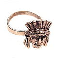 Lovely Silverplate Indian Head Ring
