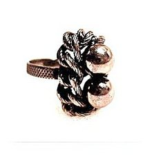Lovely Vintage Silverplate Ball & Knot Ring