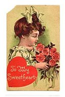 "Lovely ""To My Sweetheart"" Girl 1912 Postcard"