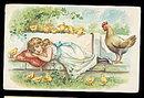 Tucks Easter Series 111 Girl Napping 1909 Postcard
