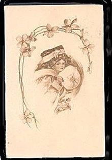 Lovely 1910 Girl with Muffler Artist Postcard