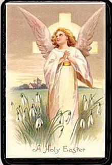 Lovely Holy Easter Angel 1907 Postcard
