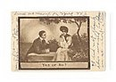 1909 Lou Mayer Signed 'Yes or No'  Artist Postcard