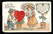 Lovely IA 1913 Heinmuller Valentine's Day Postcard