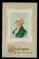 1907 George Washington - Father of his Country Postcard