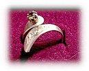 Lovely November Topaz Goldplate Ring