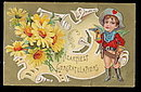 Lovely 'Heartiest Congratulations' Cherub 1910 Postcard