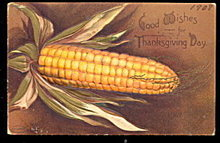 1908 Ellen Clapsaddle Thanksgiving Corn Postcard