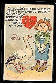 Tucks 1906 R F Outcault Valentine's Day Postcard