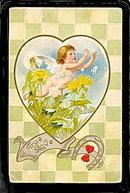 Lovely Valentine's Day 'True Love' 1911 Postcard
