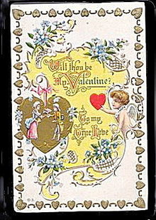 "Lovely 'Will Thou be my Valentine"" 1907 Postcard"