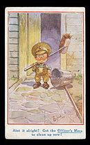 Neat T Gilson Children Soldier 1918 Postcard