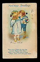 Lovely New Years Boy in Sailor Suit 1919 Postcard