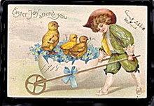 International Arts Clapsaddle? 1908 Easter Postcard