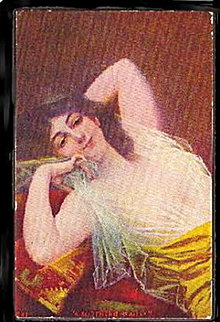 Lovely 'A Southern Beauty' Girl/Woman 1909 Postcard