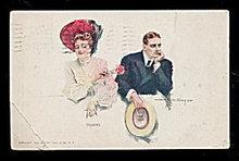 Howard Chandler Christy 'Teasing' 1908 Postcard