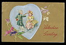 Lovely Colonial Couple Winsch Valentine's Day Postcard